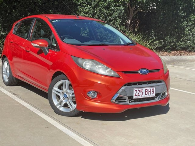 Used Ford Fiesta WT Zetec Toowoomba, 2012 Ford Fiesta WT Zetec Orange 5 Speed Manual Hatchback