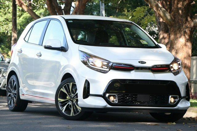 New Kia Picanto JA MY21 GT-Line Echuca, 2021 Kia Picanto JA MY21 GT-Line Clear White 4 Speed Automatic Hatchback