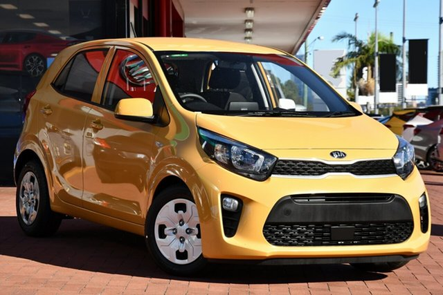 New Kia Picanto JA MY21 GT-Line Victoria Park, 2020 Kia Picanto JA MY21 GT-Line Honey Bee Yellow 4 Speed Automatic Hatchback