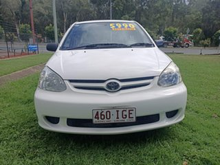 2003 Toyota Echo NCP12R MY03 White 4 Speed Automatic Sedan.