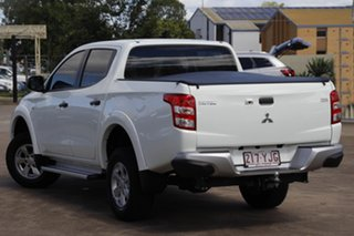 2018 Mitsubishi Triton MQ MY18 GLX+ Double Cab White 5 Speed Sports Automatic Utility.