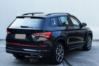 2020 Skoda Kodiaq NS MY20.5 RS DSG Black 7 Speed Sports Automatic Dual Clutch Wagon.