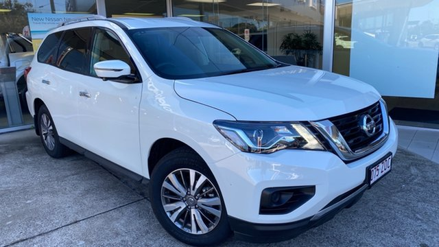 Demo Nissan Pathfinder R52 Series III MY19 ST+ X-tronic 2WD Moorooka, 2019 Nissan Pathfinder R52 Series III MY19 ST+ X-tronic 2WD Ivory Pearl 1 Speed Constant Variable