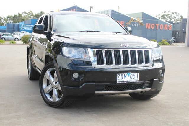 Used Jeep Grand Cherokee WK MY12 Limited (4x4) West Footscray, 2012 Jeep Grand Cherokee WK MY12 Limited (4x4) Dark Green 5 Speed Automatic Wagon
