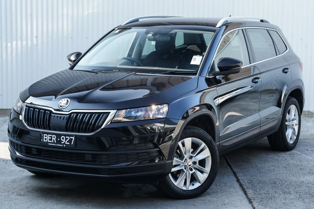 Used Skoda Karoq NU MY20.5 110TSI DSG FWD Seaford, 2019 Skoda Karoq NU MY20.5 110TSI DSG FWD Black 7 Speed Sports Automatic Dual Clutch Wagon