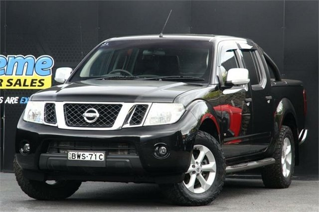 Used Nissan Navara D40 S6 MY12 ST-X 550 Campbelltown, 2011 Nissan Navara D40 S6 MY12 ST-X 550 Black 7 Speed Sports Automatic Utility