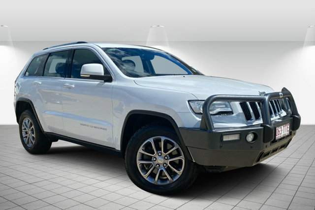 Used Jeep Grand Cherokee WK MY2014 Laredo Hervey Bay, 2014 Jeep Grand Cherokee WK MY2014 Laredo Bright White 8 Speed Sports Automatic Wagon