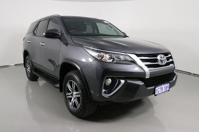 Used Toyota Fortuner GUN156R MY19 GXL Bentley, 2019 Toyota Fortuner GUN156R MY19 GXL Graphite 6 Speed Automatic Wagon