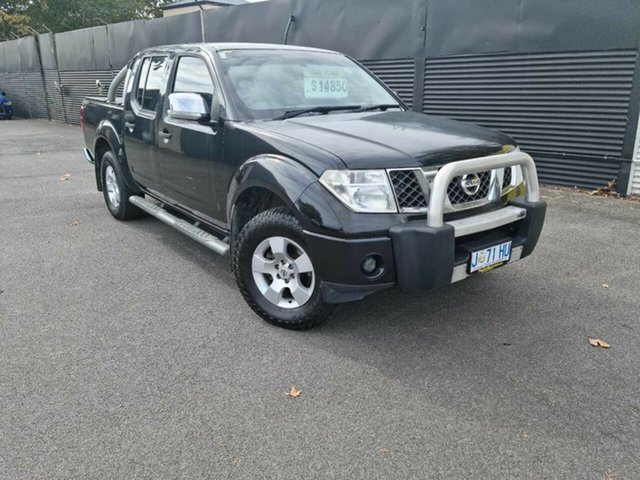 Used Nissan Navara D40 ST-X Launceston, 2008 Nissan Navara D40 ST-X Black 6 Speed Manual Utility