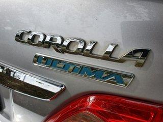 2010 Toyota Corolla ZRE153R Ultima Silver Automatic Sedan