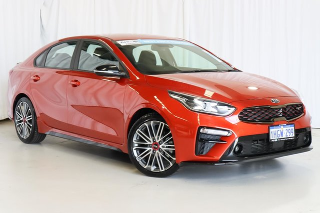 Used Kia Cerato BD MY21 GT DCT Wangara, 2020 Kia Cerato BD MY21 GT DCT Orange 7 Speed Sports Automatic Dual Clutch Sedan