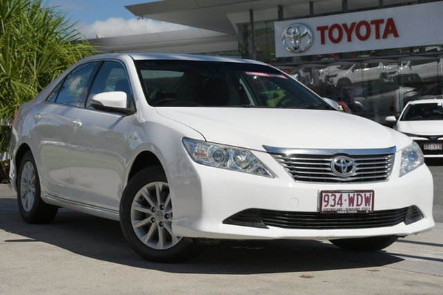 Pre-Owned Toyota Aurion GSV50R AT-X North Lakes, 2014 Toyota Aurion GSV50R AT-X Diamond White 6 Speed Sports Automatic Sedan