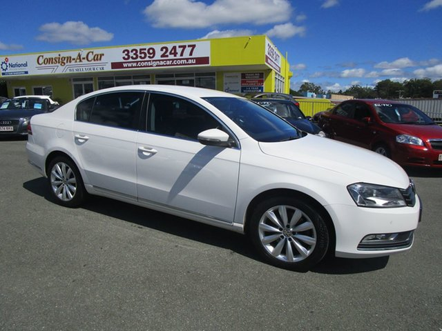 Used Volkswagen Passat Type 3C MY14.5 118TSI DSG Kedron, 2014 Volkswagen Passat Type 3C MY14.5 118TSI DSG White 7 Speed Sports Automatic Dual Clutch Sedan