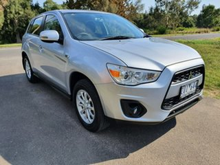 2012 Mitsubishi ASX XB Silver Constant Variable Wagon.