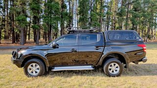 2017 Mitsubishi Triton MQ MY17 GLX+ Double Cab Black 6 Speed Manual Utility