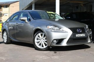 2015 Lexus IS AVE30R IS300h Luxury Silver 1 Speed Constant Variable Sedan Hybrid.