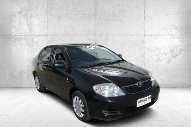 Used Toyota Corolla ZZE122R 5Y Ascent Bendigo, 2006 Toyota Corolla ZZE122R 5Y Ascent Black 4 Speed Automatic Sedan