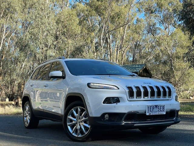 Used Jeep Cherokee KL MY15 Limited Echuca, 2015 Jeep Cherokee KL MY15 Limited White 9 Speed Sports Automatic Wagon