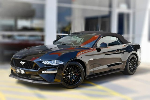 Used Ford Mustang FN 2018MY GT SelectShift Berwick, 2018 Ford Mustang FN 2018MY GT SelectShift Black 10 Speed Sports Automatic Convertible