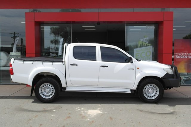 Pre-Owned Toyota Hilux KUN26R MY12 SR Double Cab Swan Hill, 2013 Toyota Hilux KUN26R MY12 SR Double Cab White 4 Speed Automatic Utility