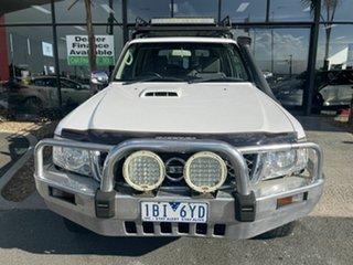2012 Nissan Patrol GU VIII ST (4x4) White 5 Speed Manual Wagon.