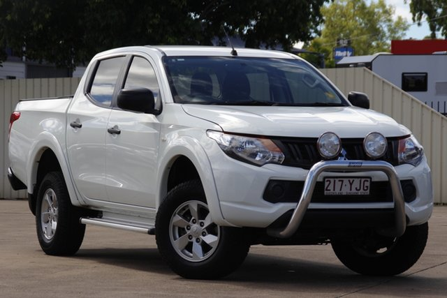 Used Mitsubishi Triton MQ MY18 GLX+ Double Cab Bundamba, 2018 Mitsubishi Triton MQ MY18 GLX+ Double Cab White 5 Speed Sports Automatic Utility