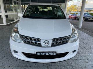 2011 Nissan Tiida C11 Series 3 MY ST White 4 Speed Automatic Hatchback.