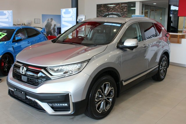 New Honda CR-V RW MY21 VTi FWD L7 Cardiff, 2020 Honda CR-V RW MY21 VTi FWD L7 Lunar Silver 1 Speed Constant Variable Wagon