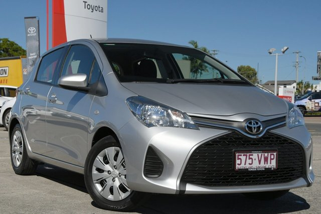 Pre-Owned Toyota Yaris NCP130R Ascent Albion, 2015 Toyota Yaris NCP130R Ascent Silver Pearl 4 Speed Automatic Hatchback