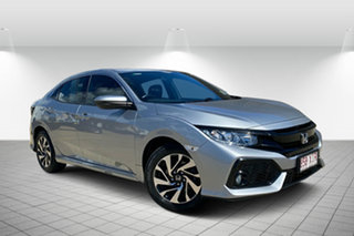 2017 Honda Civic 10th Gen MY17 VTi-S Silver 1 Speed Constant Variable Hatchback.