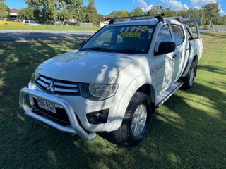 2010 Mitsubishi Triton MN MY10 GL-R Double Cab 4x2 White 5 Speed Manual Utility.
