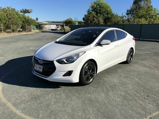 2011 Hyundai Elantra MD Active White 6 Speed Manual Sedan.