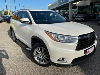 2015 Toyota Kluger GSU50R Grande 2WD White/010315 6 Speed Sports Automatic Wagon.