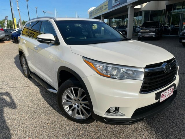 Used Toyota Kluger GSU50R Grande 2WD Townsville, 2015 Toyota Kluger GSU50R Grande 2WD White/010315 6 Speed Sports Automatic Wagon