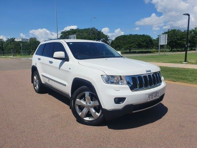 Used Jeep Grand Cherokee WK MY2012 Limited Townsville, 2012 Jeep Grand Cherokee WK MY2012 Limited White 5 Speed Sports Automatic Wagon