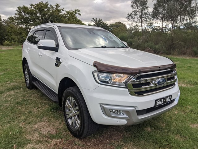 Used Ford Everest UA Trend Epsom, 2015 Ford Everest UA Trend White 6 Speed Sports Automatic SUV