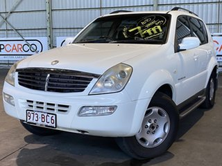 2005 Ssangyong Rexton Y220 Sports Plus White 5 Speed Sports Automatic Wagon.