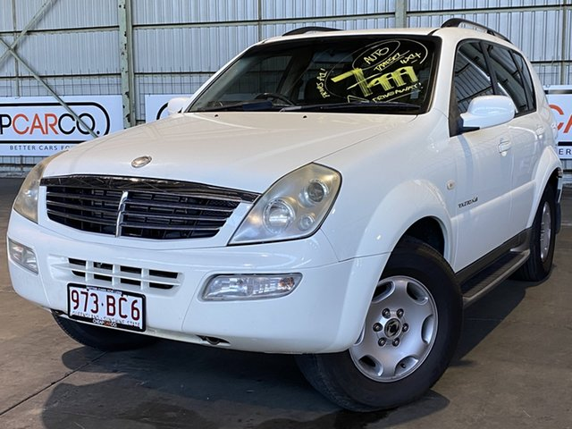 Used Ssangyong Rexton Y220 Sports Plus Rocklea, 2005 Ssangyong Rexton Y220 Sports Plus White 5 Speed Sports Automatic Wagon