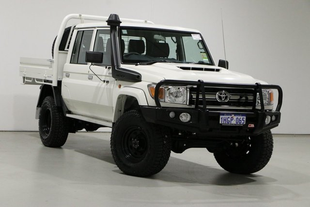 Used Toyota Landcruiser 70 Series VDJ79R GXL Bentley, 2021 Toyota Landcruiser 70 Series VDJ79R GXL White 5 Speed Manual Double Cab Chassis
