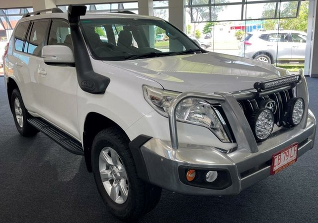 Used Toyota Landcruiser Prado KDJ150R MY14 GXL Winnellie, 2015 Toyota Landcruiser Prado KDJ150R MY14 GXL White 5 Speed Sports Automatic Wagon