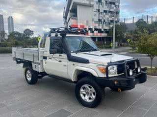 2012 Toyota Landcruiser VDJ79R MY13 GXL White 5 Speed Manual Cab Chassis.