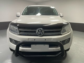 2013 Volkswagen Amarok 2H MY13 TDI420 4Motion Perm Highline White 8 Speed Automatic Utility.