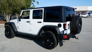 2013 Jeep Wrangler JK MY2014 Unlimited Sport White 5 Speed Automatic Softtop