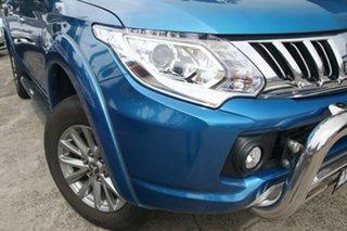 2016 Mitsubishi Triton MQ MY16 GLS (4x4) Blue 5 Speed Automatic Dual Cab Utility.