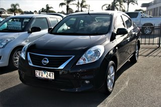 2012 Nissan Almera N17 TI Black 4 Speed Automatic Sedan.