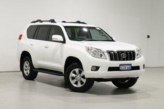 2013 Toyota Landcruiser Prado KDJ150R 11 Upgrade GXL (4x4) White 5 Speed Sequential Auto Wagon.