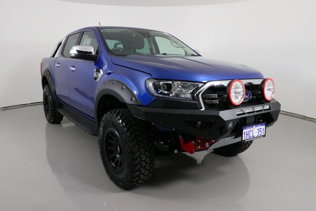 Used Ford Ranger PX MkIII MY20.75 XLT 2.0 (4x4) Bentley, 2020 Ford Ranger PX MkIII MY20.75 XLT 2.0 (4x4) Blue 10 Speed Automatic Double Cab Pick Up