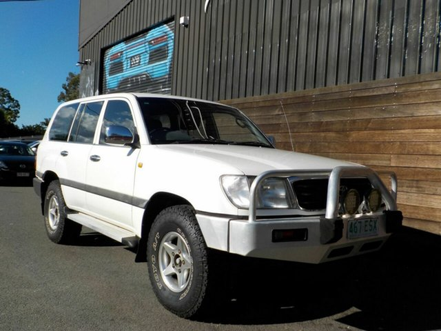 Used Toyota Landcruiser HZJ105R GXL Labrador, 1998 Toyota Landcruiser HZJ105R GXL White 4 Speed Automatic Wagon