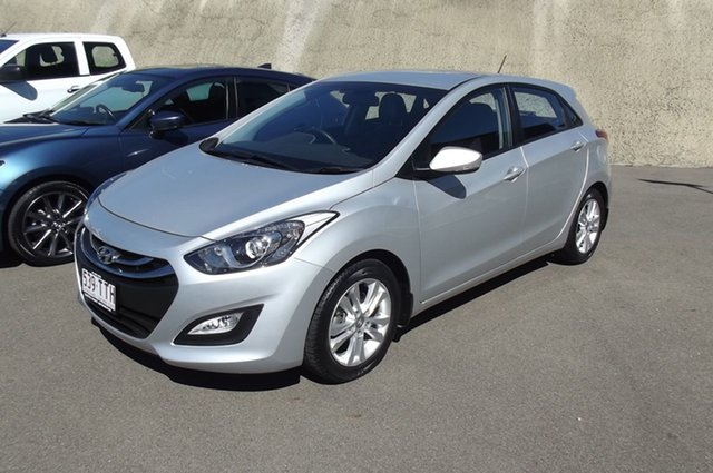 Used Hyundai i30 GD2 MY14 Trophy South Gladstone, 2013 Hyundai i30 GD2 MY14 Trophy Silver 6 Speed Sports Automatic Hatchback