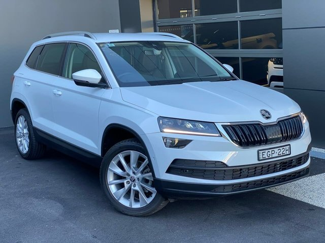 Used Skoda Karoq NU MY20.5 110TSI DSG FWD Hobart, 2020 Skoda Karoq NU MY20.5 110TSI DSG FWD White 7 Speed Sports Automatic Dual Clutch Wagon